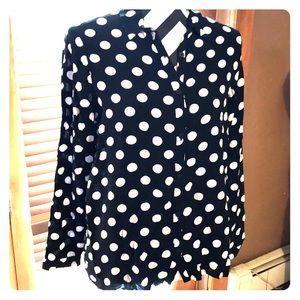 Polka dotted shirt